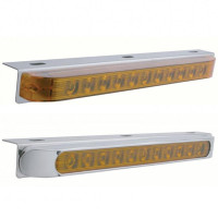 Stainless Steel Light Bracket With 11 Amber LED STT & PTC Light Bar