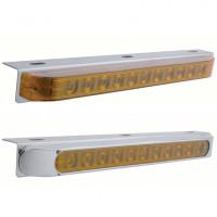 Stainless Steel Light Bracket With 11 Amber LED STT & PTC Light Bar