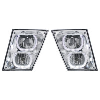 Volvo VNL 2003+ Fog Light With White LED Light Bar - Set