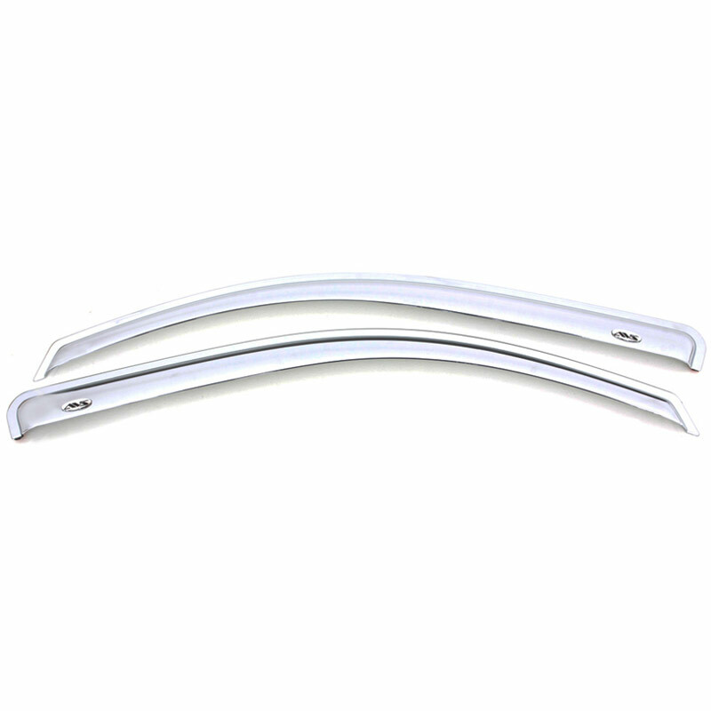 Ford F-150 Standard Cab Supercrew Supercab AVS Chrome Ventvisor 2 Piece