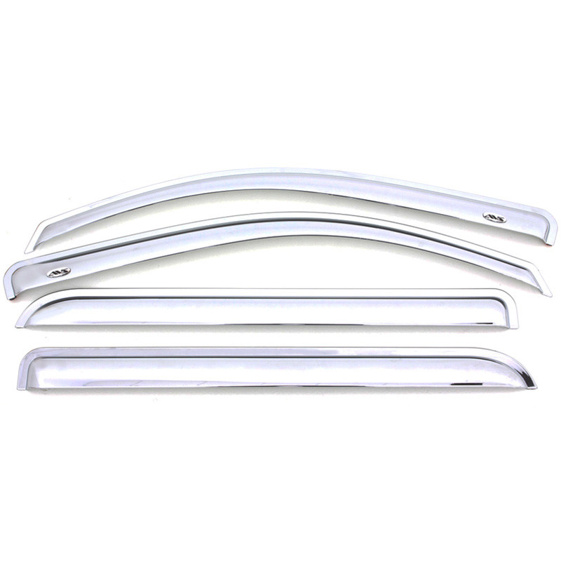 Dodge Ram 1500 Quad Cab AVS Chrome Ventvisor 4 Piece