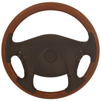 "Freightliner Cascadia 18"" All Wood Steering Wheel"