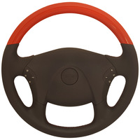 "Freightliner Cascadia 18"" Viper Red Steering Wheel"