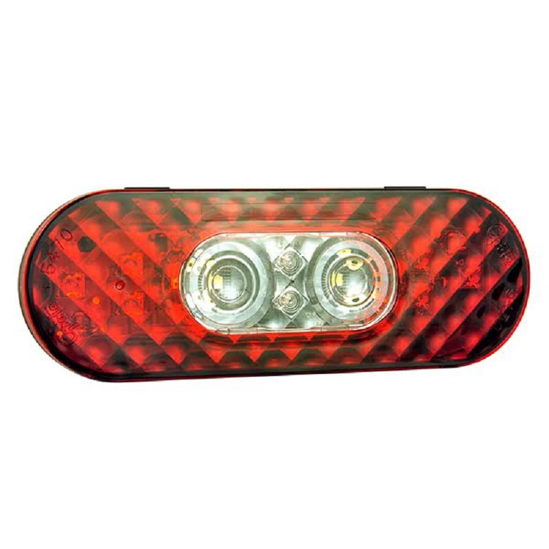 grote tail light wiring 6 quot oval led stop tail turn light with integrated reverse