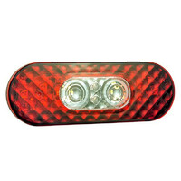 "6"" Oval LED STT with Integrated Reverse Function- Front"