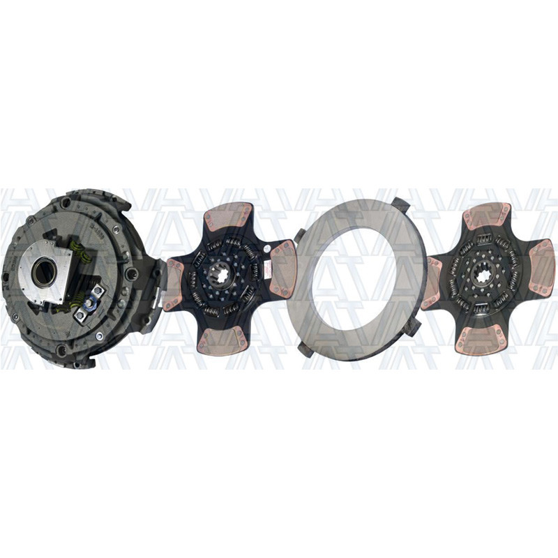 "Illinois Auto Truck 15.5"" Easy Effort Clutch 2-Plate 4-Paddle 1650 Torque 108391-74"