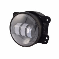 "4"" Round Jeep Fog Light - Angled View"