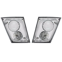 Chrome Volvo VNL Fog Light Only - Both Sides