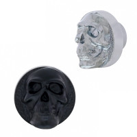 Skull Dash Knob Chrome and Matte Black