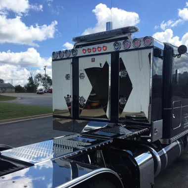 Semi Mud Flaps >> Enclosed 3 Door Aluminum Rack By Brunner Fabrication - Raney's Truck Parts