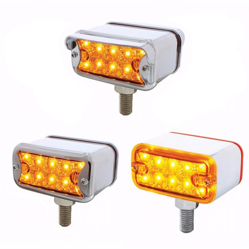10 LED Dual Function Double Face Reflector Light T Mount Amber Lens Option