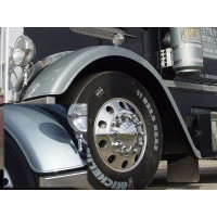Peterbilt 379 Extended Hood Lasalle Custom Front Fender Set On Peterbilt