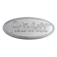 Engraved Peterbilt Logo Shaped Tractor Trailer Air Brake Knob Front