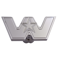 Engraved Western Star Logo Shape Tractor Trailer Air Brake Knob Front