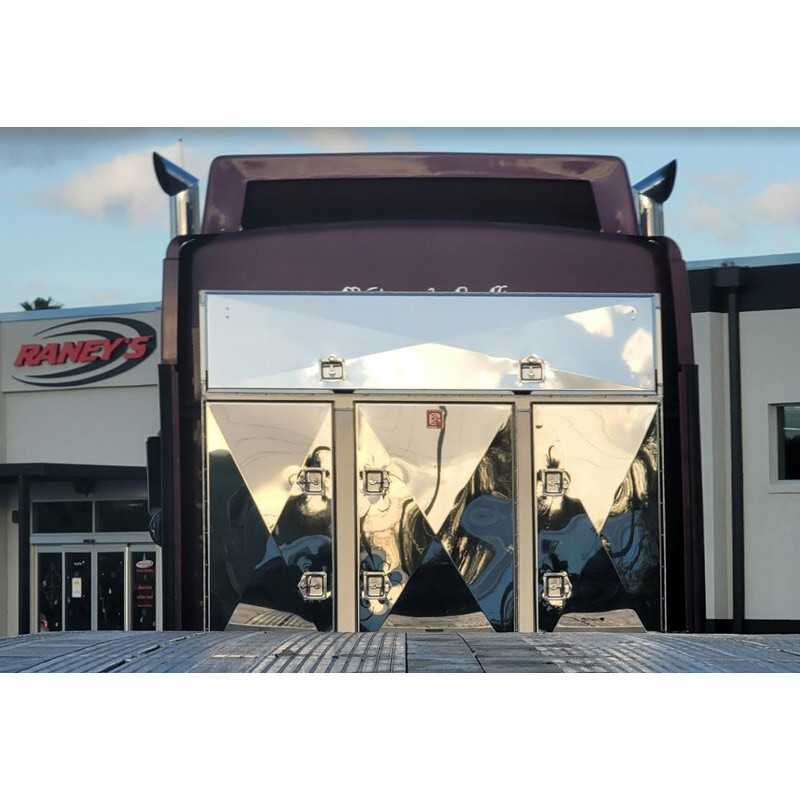 Enclosed 4 Door Aluminum Fleet Rack By Brunner Fabrication - Close View Raneys's