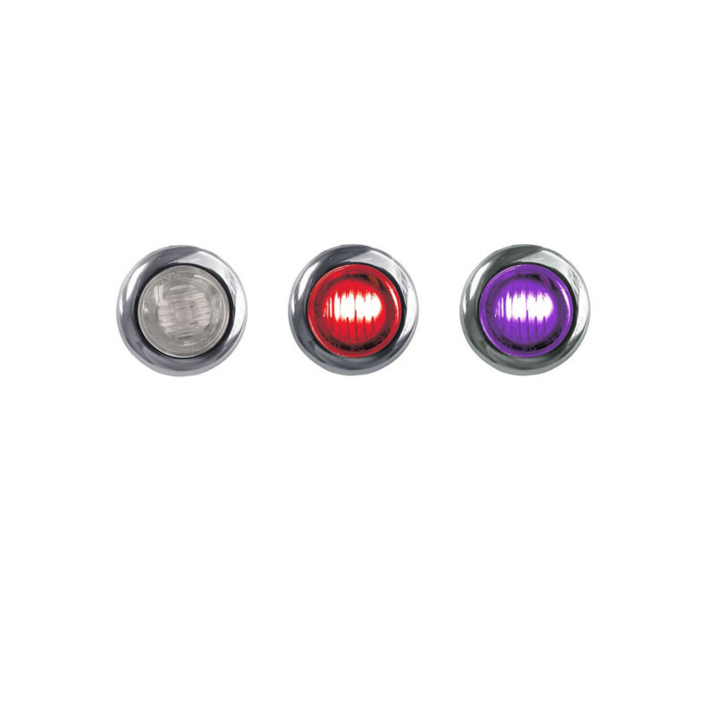 Mini Button Dual Revolution Red & Purple LED Marker Light