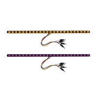 "17"" Dual Revolution Light Strip Amber & Purple LED Marker Light"