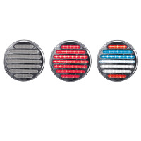 4'' Round Dual Flatline Red/USA STT/Reverse Combo Light