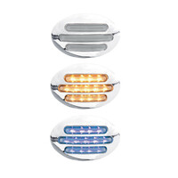 G3 Dual Revolution Flatline Amber & Blue Marker LED