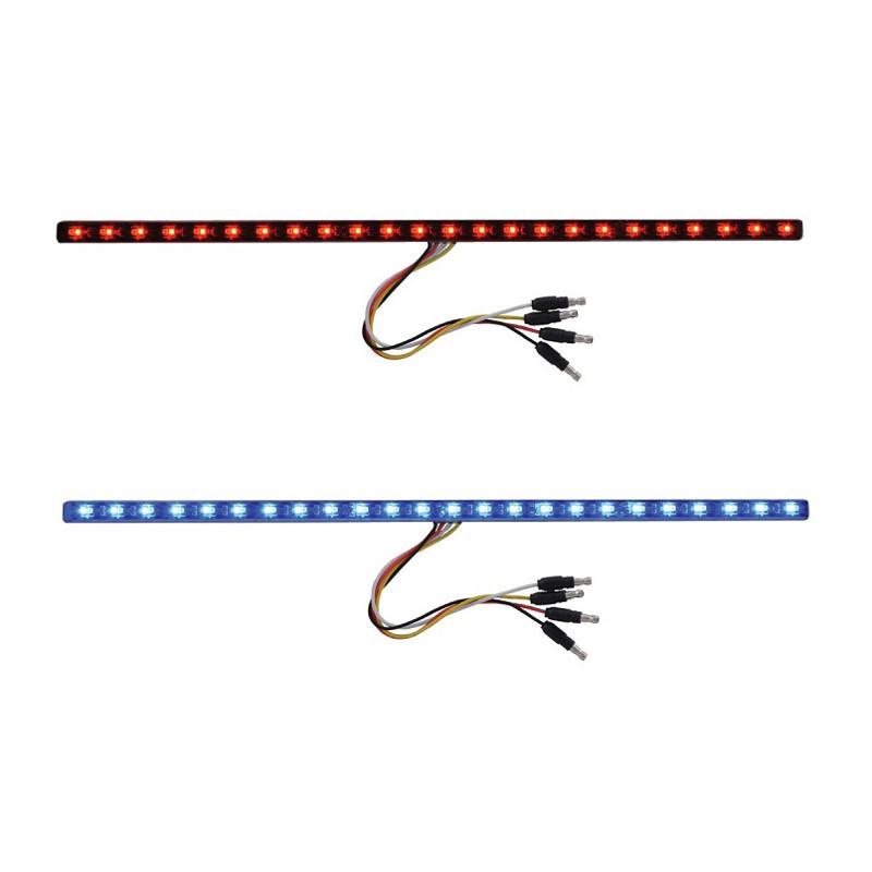 "17"" Dual Revolution Light Strip Red & Blue LED Marker Light"