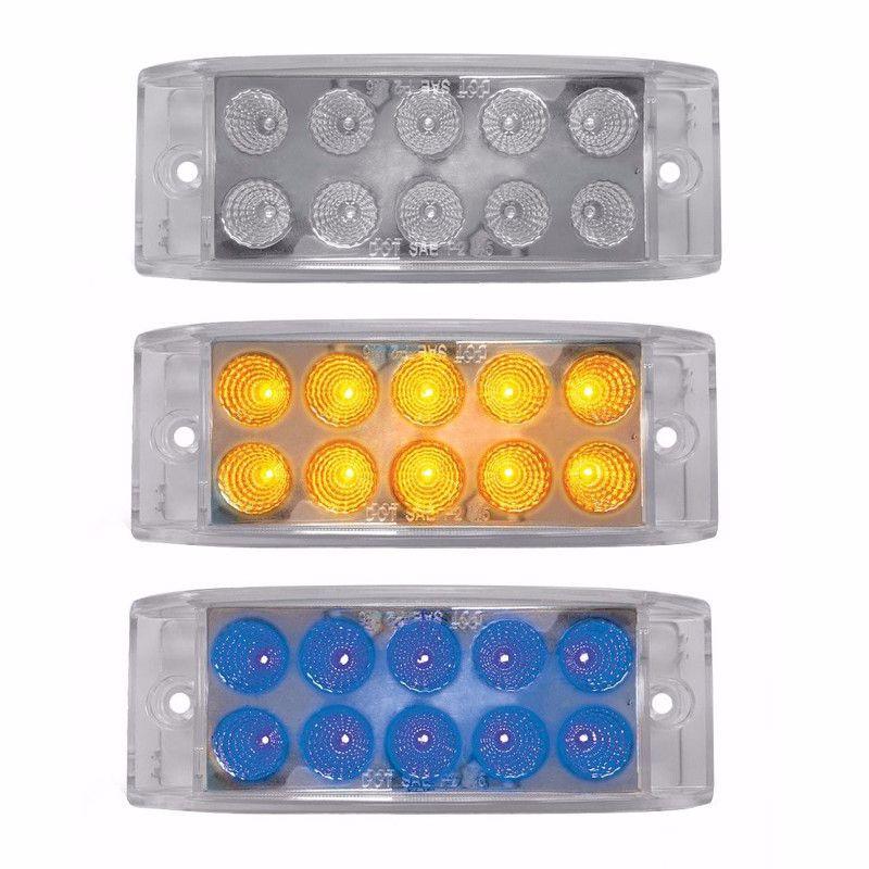 Dual Revolution Trailer Marker Light Amber & Blue LED