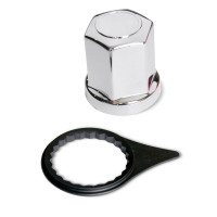 Chrome Lug Nut Cover With Black Indicator