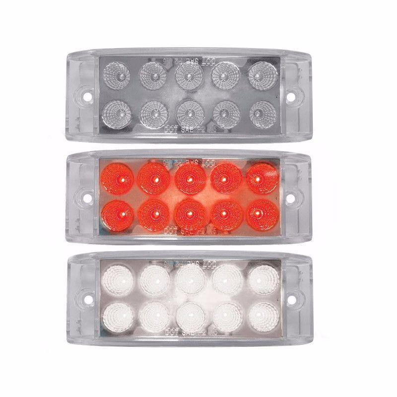Dual Revolution Trailer Marker Light Red & White LED