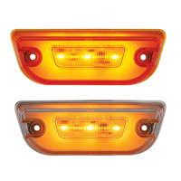 Peterbilt 579 & Kenworth T680 LED Rectangular Glo Cab Light Amber And Clear Lens Shown