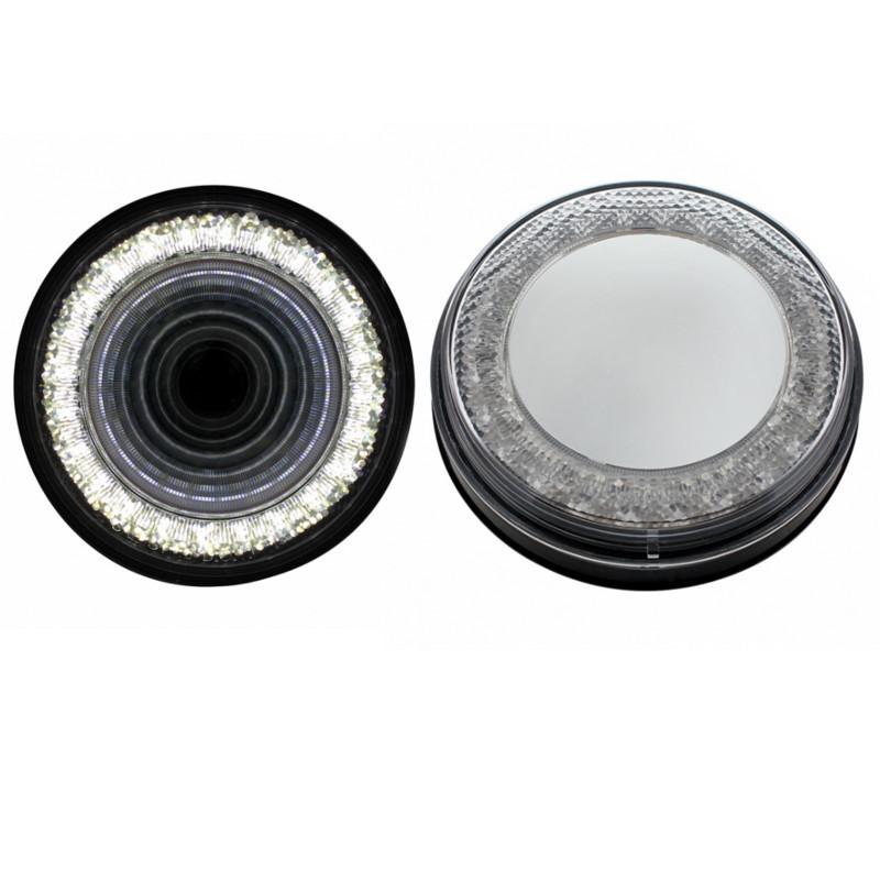 "4"" Round 24 Super White LED Back Up Mirage Light Shown"