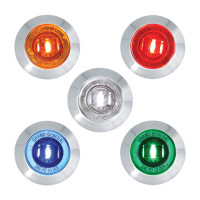 "Dual Function 1"" Mini Wide Angle Clearance Marker & Turn LED Light - All Colors"
