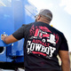 Asphalt Cowboy Hammer Lane T-Shirt On Model