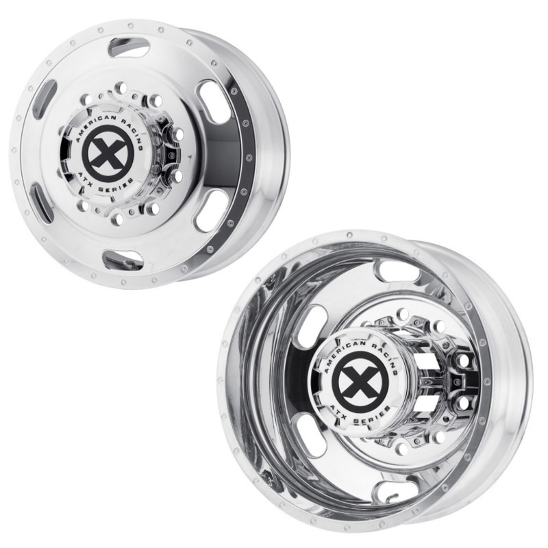 "22.5"" x 8.25"" Polished Indy Style Wheels  Front And Rear"