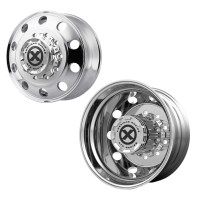 "24.5"" x 8.25"" Polished Baja Style Wheels Front And Rear"