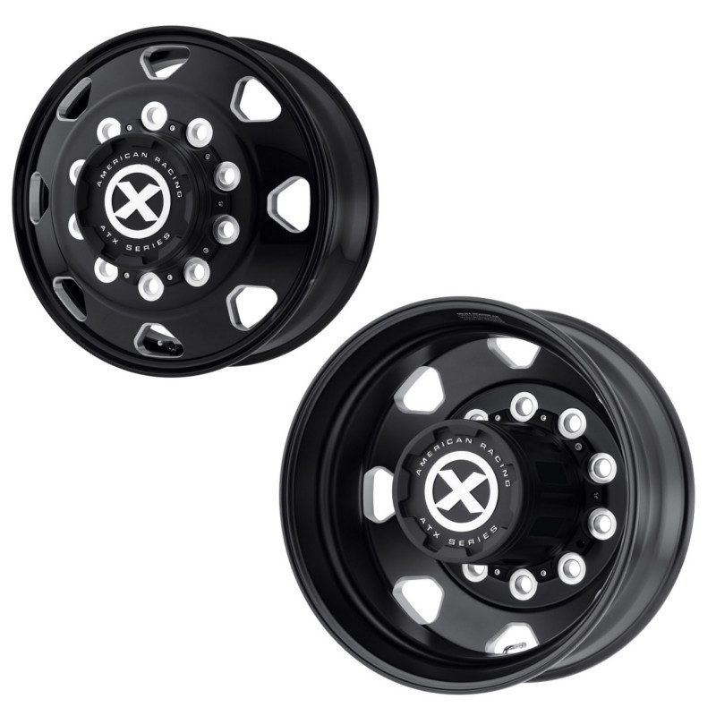 24 5 Quot X 8 25 Quot Satin Black Octane Style Wheel By American