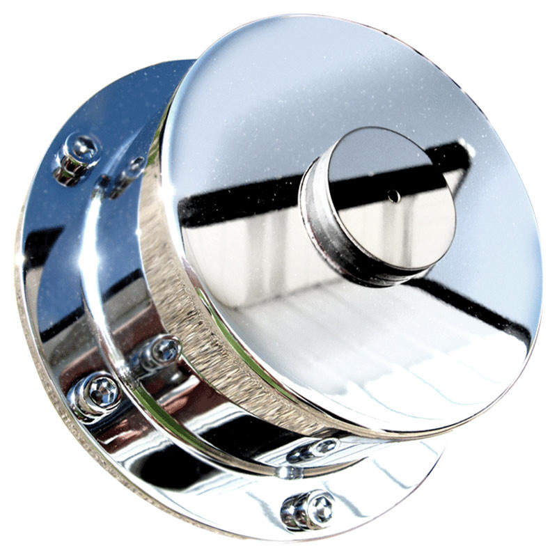 Lifetime Chrome Front Hub Oil Cap Replacement Cover For Bud Wheels - Smooth
