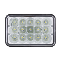 "High Power 15 LED 4"" x 6"" Rectangular Light"