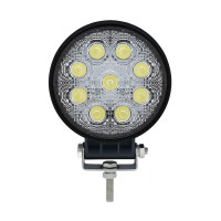 High Power 9 LED Round Work Light