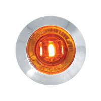 """Dual Function 1.25"""" Clearance Marker & Turn LED Light - Amber/Amber"""