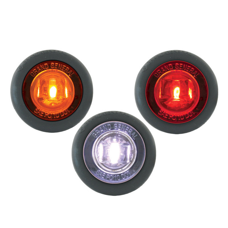 """Dual Function 1.25"""" Clearance Marker & Turn LED Light With Grommet - Colors"""
