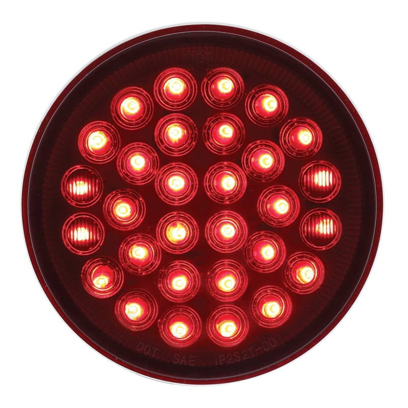 Red 30 LED 4 quot Round STT Competition Series Light Raney s
