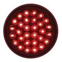 """Red 30 LED 4"""" Round STT Competition Series Light On"""