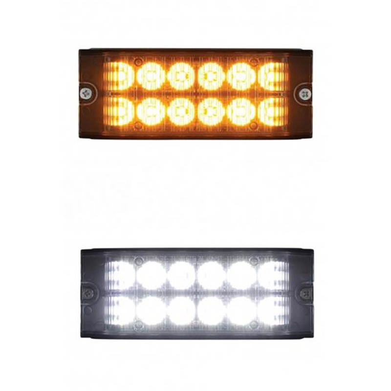 12 LED High Power Low Profile Warning Light Both Options