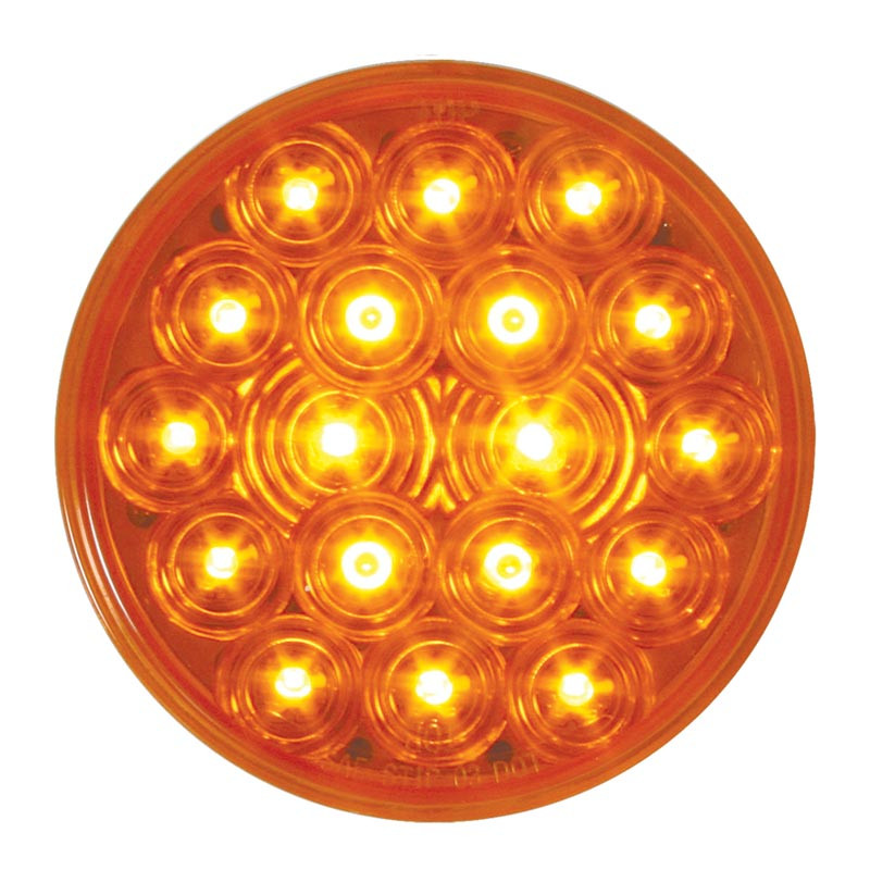 "Fleet Series 18 LED 4"" Round STT PTC & Decorative Light - Amber/Amber"