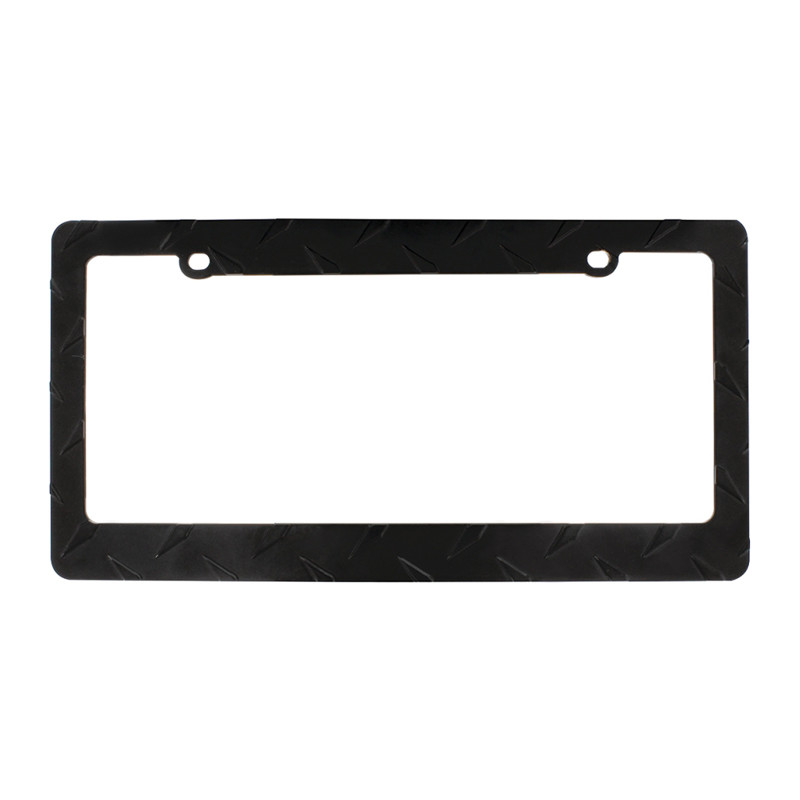 Diamond Plate License Plate Frame - Raney\'s Truck Parts
