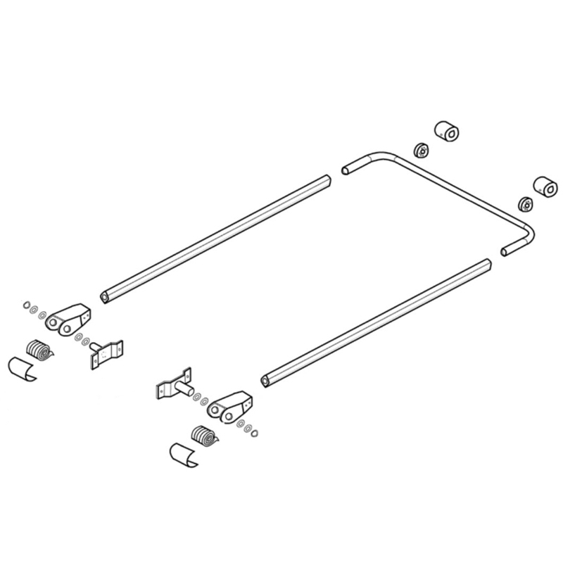 premium front to back aluminum tarp mount system