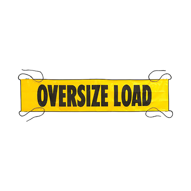 7 X 18 Quot Mesh Oversize Load Banner With Sewn In Ropes