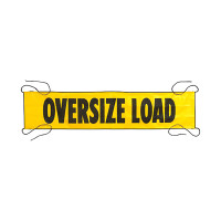 "7' x 18"" Mesh Oversize Load Banner With Sewn In Ropes"