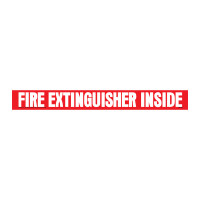 Safety Fire Extinguisher Inside Decal Transport Safety Sign Sticker