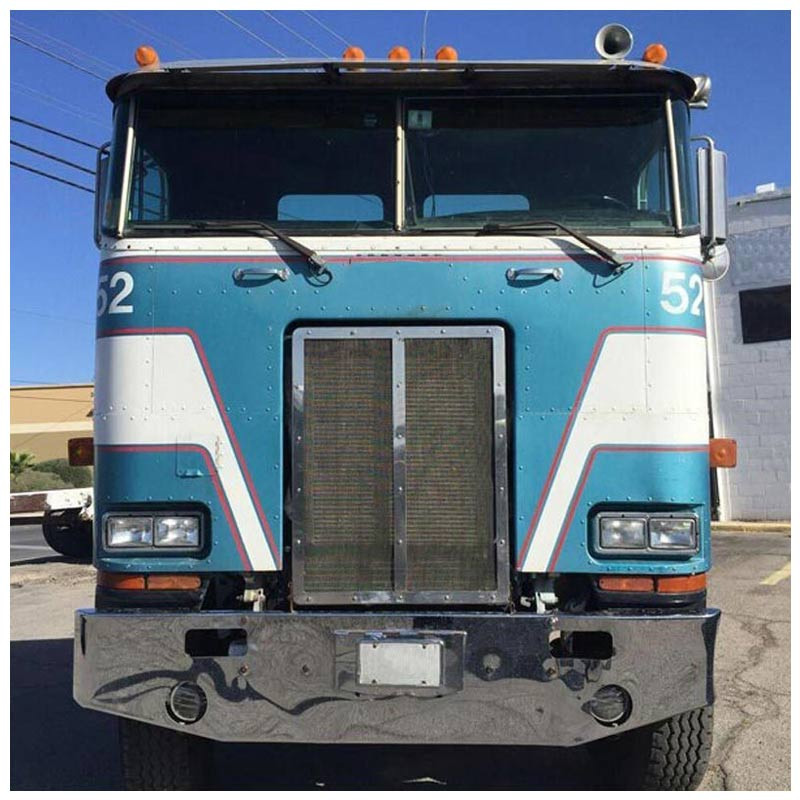 Peterbilt 362 Chrome Tapered Bumper By Valley Chrome Front