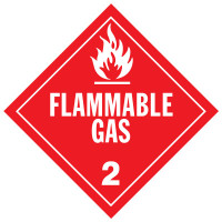 Flammable Gas Class 2 Placard Sign